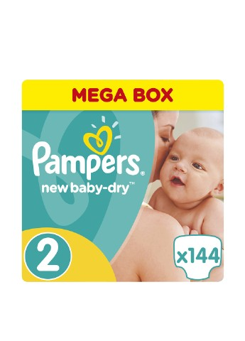 Подгузники Pampers New Baby-Dry Размер 2 (Mini) 3-6 кг, 144 шт Pampers