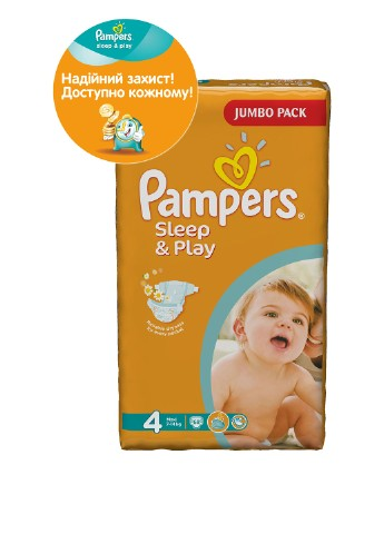 Подгузники Sleep & Play Maxi (7-14 кг), 68 шт. Pampers